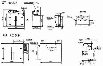 利用蒸汽给烘箱加热管路连接示意图
