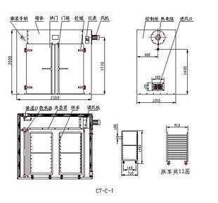 高温烘箱设计图