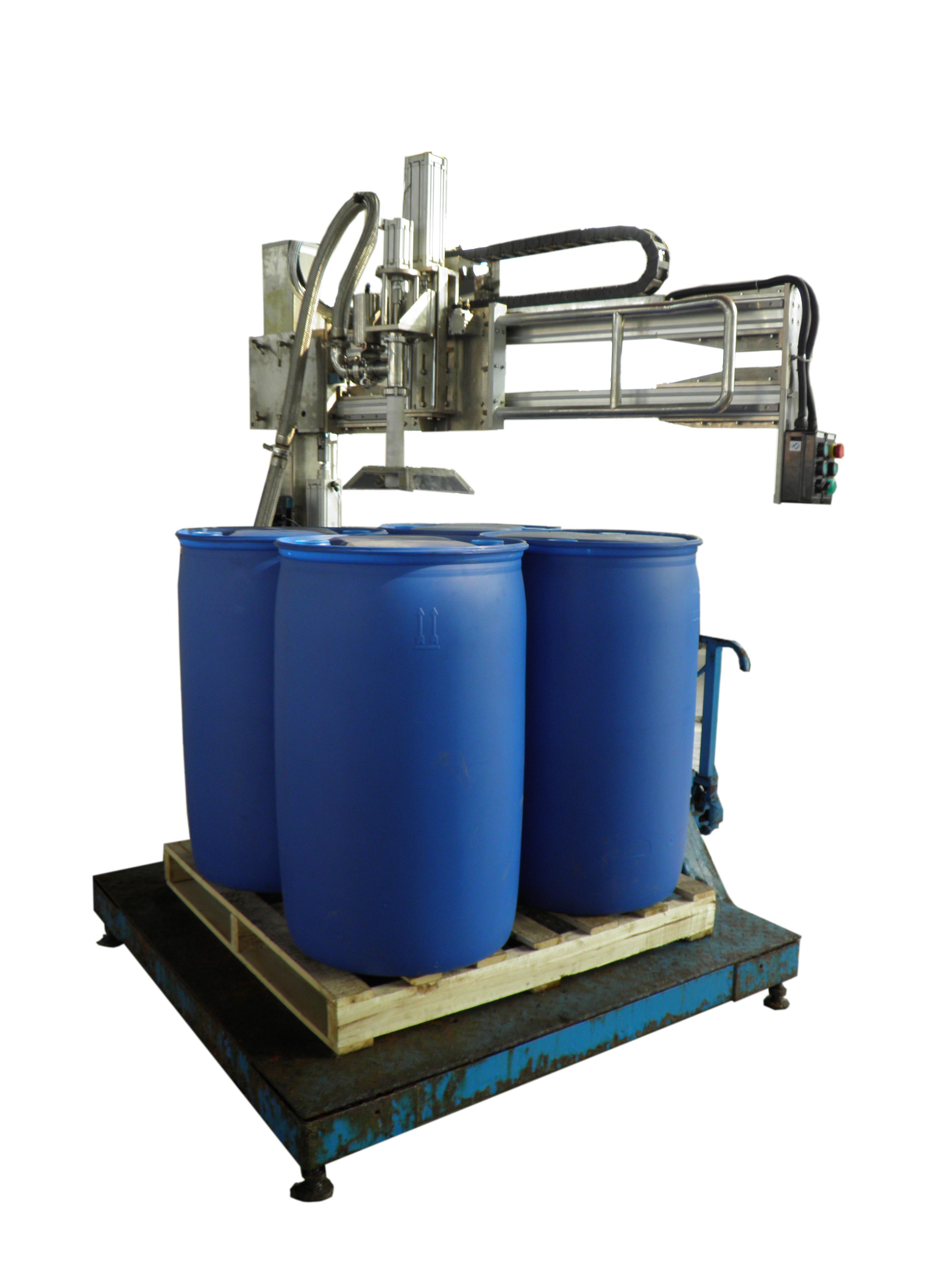 无锡德瑞包装设备制造有限公司是专业生产厂家 欢迎各桶装产品用户前来定制各种桶的——定量灌装封口码垛全自动包装线。 http//:www.jswxdr.com 电话:0510-85520151 传真:0510-85522501